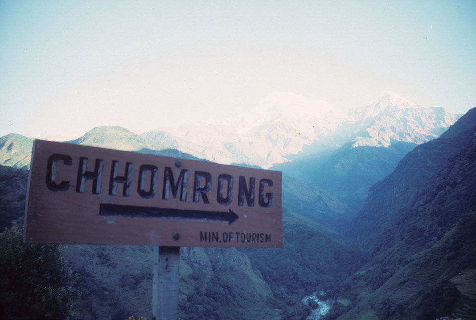 This way to Chhomrong in Nepal