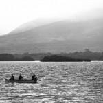 Fishing on a peaceful lake in Kerry, Ireland