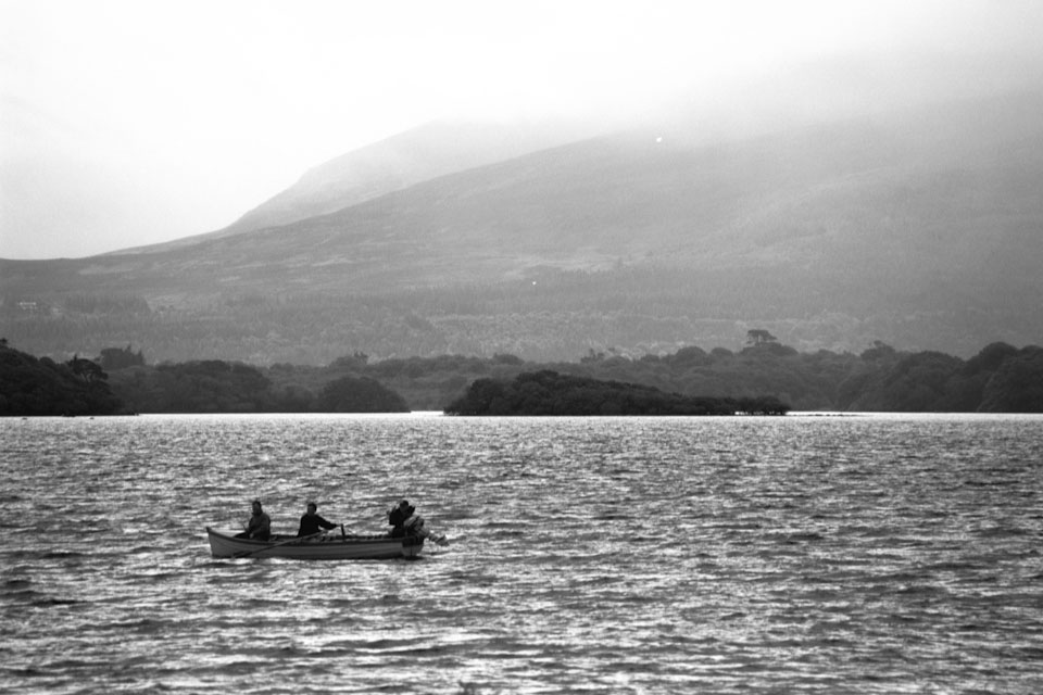 Fishing on a peaceful lake in Kerry, Ireland