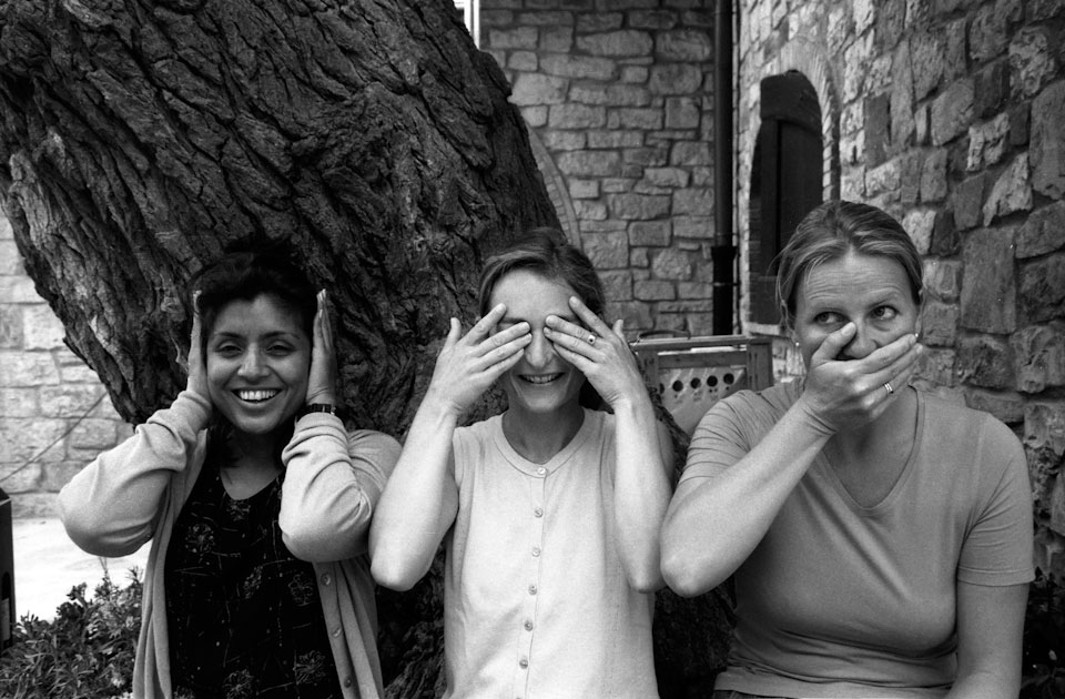 Sabina, Marcella and Elsbeth are the three international monkeys.