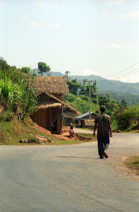 A pretty typical road in rural Laos.