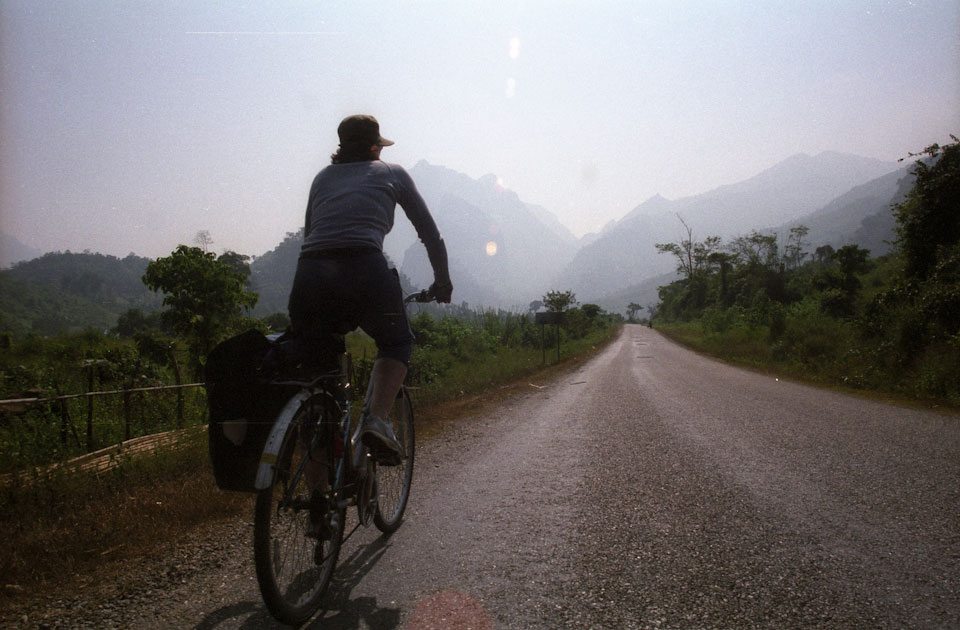 On the road in rural Laos