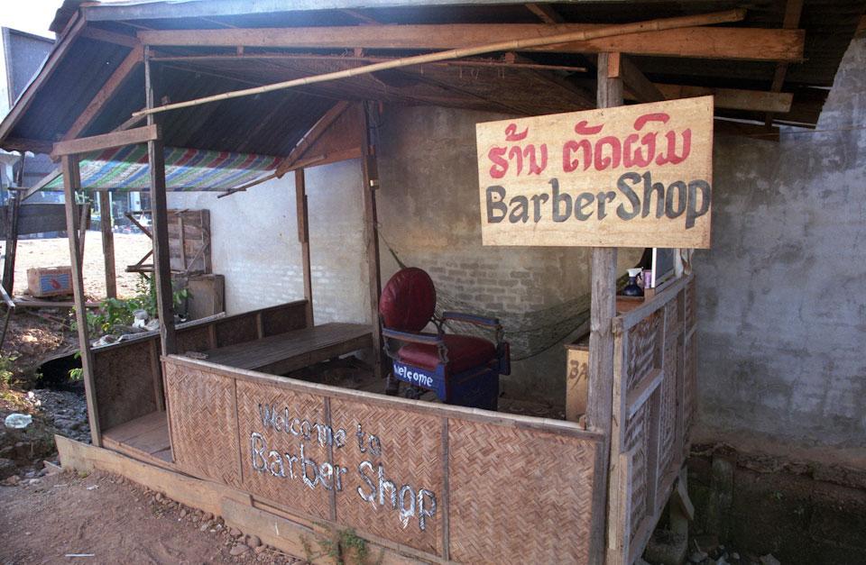 Barber shop in Laos