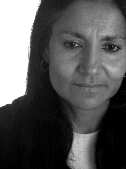 Bushra Khan, pensive