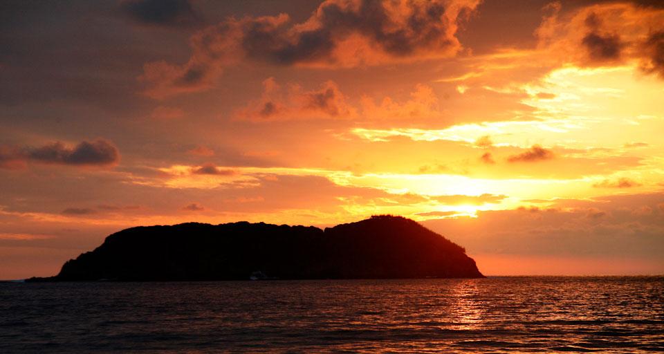 Sunset from Manuel Antonia National Park, Costa Rica