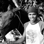 Man and beast, man and horse, Costa Rica