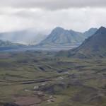 Álftavatn, on the Laugavegur trail from Landmannalaugar to Þórsmörk in Iceland.