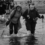Fording a stream, Iceland
