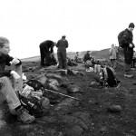 Between Hrafntinnusker and Álftavatn on the Laugavegur trail in Iceland.