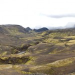 The valleys of Emstrur, on the Laugevegur trail in Iceland.
